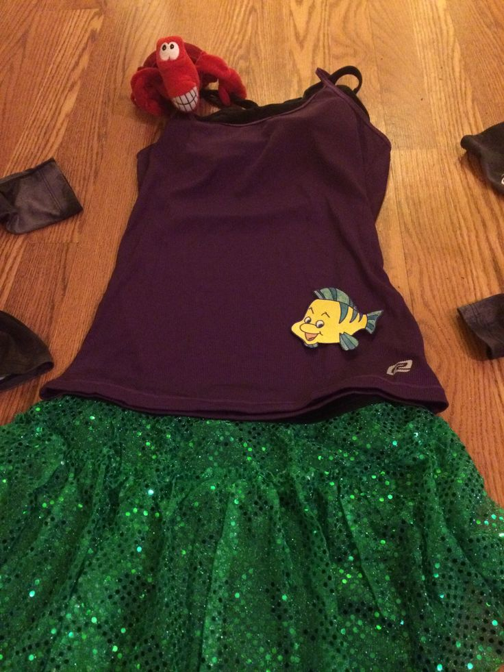Run Disney Tinkerbell Half Marathon Costume.  Running Ariel from Little Mermaid!