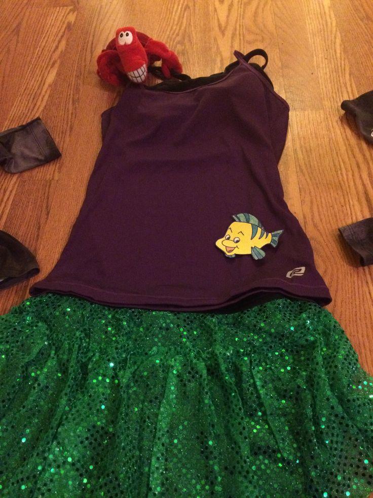 Run Disney Tinkerbell Half Marathon Costume. Running Ariel from Little Mermaid!