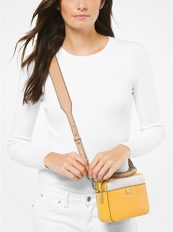 1402219aa6c9af Mott Mini Color-Block Pebbled Leather Crossbody | handbags ...