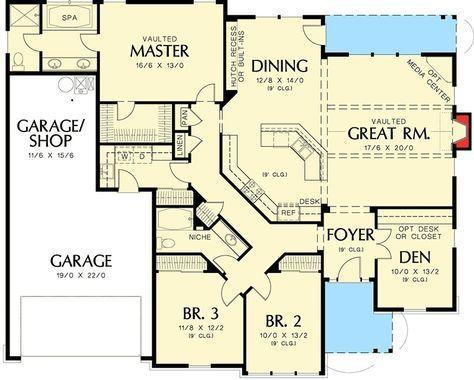 2016 best plans images on Pinterest Architecture, Small house - Plan Gratuit De Maison Plain Pied