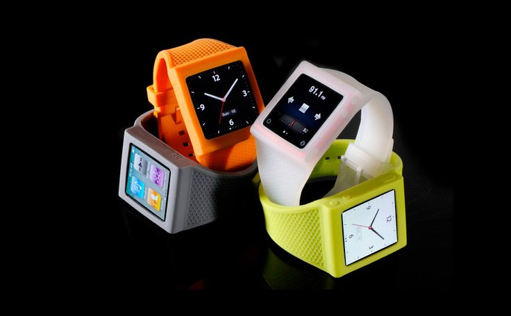 Ipod as a watch and with a silicone band ? Yuck. It takes two useful items and makes it into one big roll of suck.