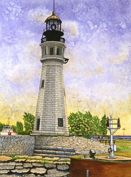 Buffalo Lighthouse II by Thelma Winter