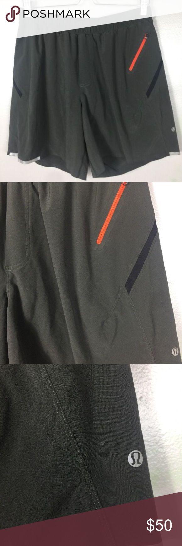 """Lululemon  Gray Athletic Shorts Lululemon Mens L Large Gray Athletic Shorts  inseam 7""""  excellent pre owned condition lululemon athletica Shorts"""