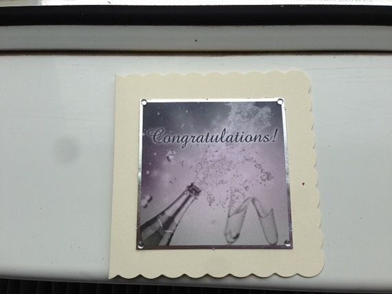 Congratulations Card, Simple Congratulations, Champagne Congratulations, Getting Married, Graduation Card, Engagement Card, Pass Exams Card