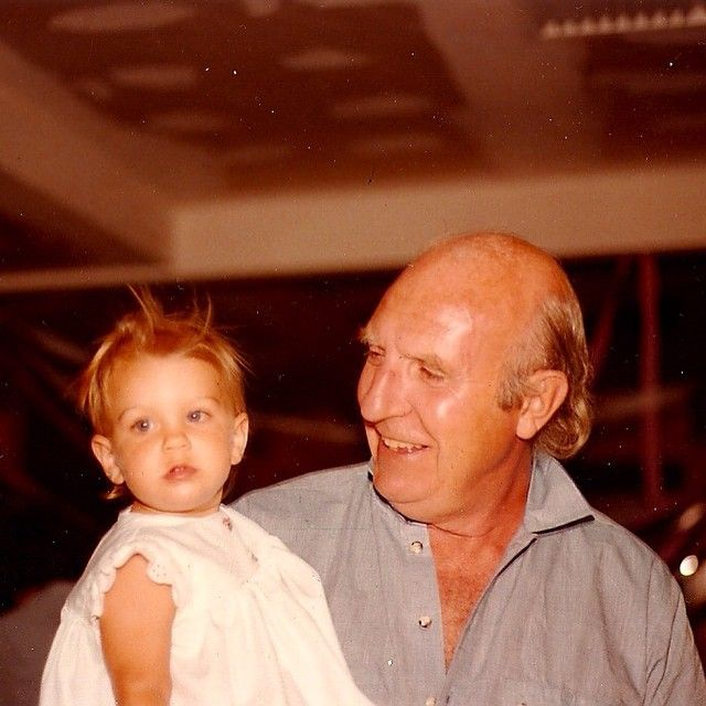 Claire with her dad 1979