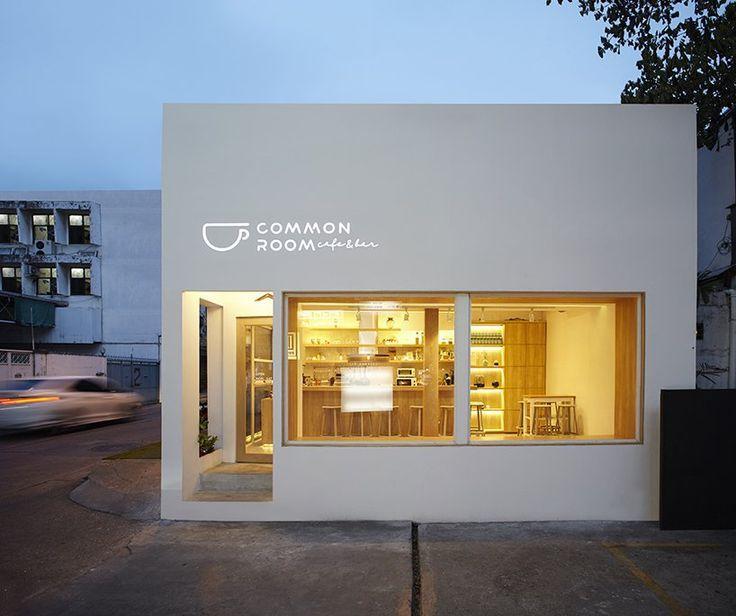 Party Space Design Creates A Simple Common Room Cafe In Bangkok Home Decor House Exterior Interior Desain Eksterior Arsitektur Rumah