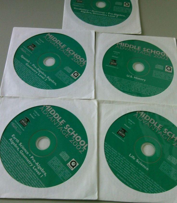 Middle School Advantage PC 2002 5 CDs Windows Game Kids Education Learning Disc  | eBay