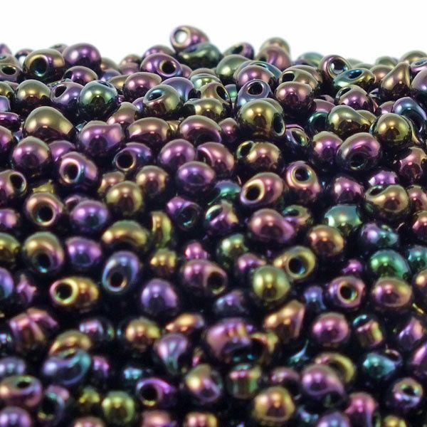 Miyuki Drop Beads 3.4mm - Purple Iris - 10g for £1.20