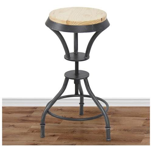 Bar stool industrial metal design adjustable height swivel for Industrial design bar stools