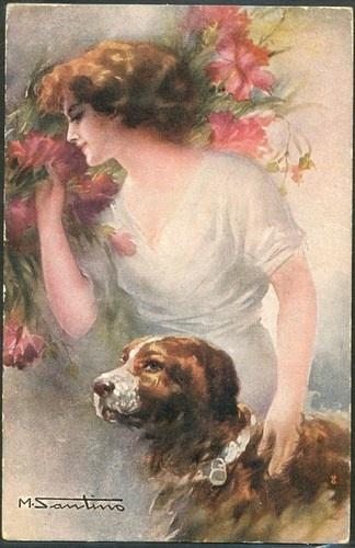 SANTINO FEMME FLEURS CHIEN DOG Romantique VIENNE WSSB