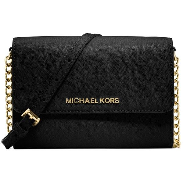 MICHAEL Michael Kors Jet Set smart phone bag/wallet in saffiano leather.  Snap-flap top with logo on front.