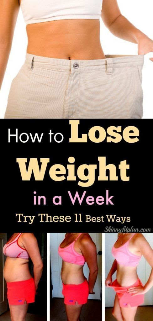 HOW TO LOSE WEIGHT IN A WEEK – TRY THESE 11 BEST W…