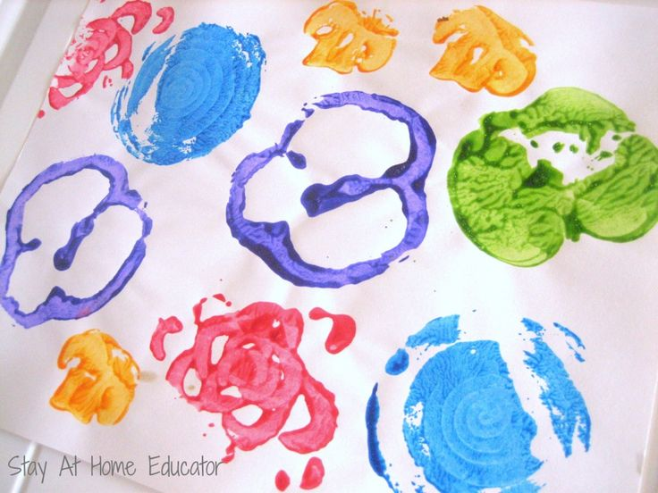 Fruit and Vegetable Printing - Stay At Home Educator