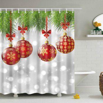 Waterproof Christmas Decor Bathroom Shower Curtain (GRAY,L) in Bathroom Products | DressLily.com