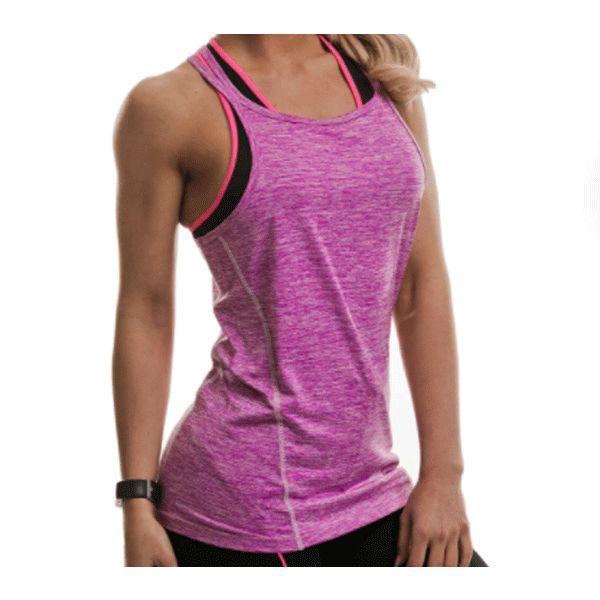 Golds Gym Ladies Performance Vest - Pink (GGLVST063 PNK)