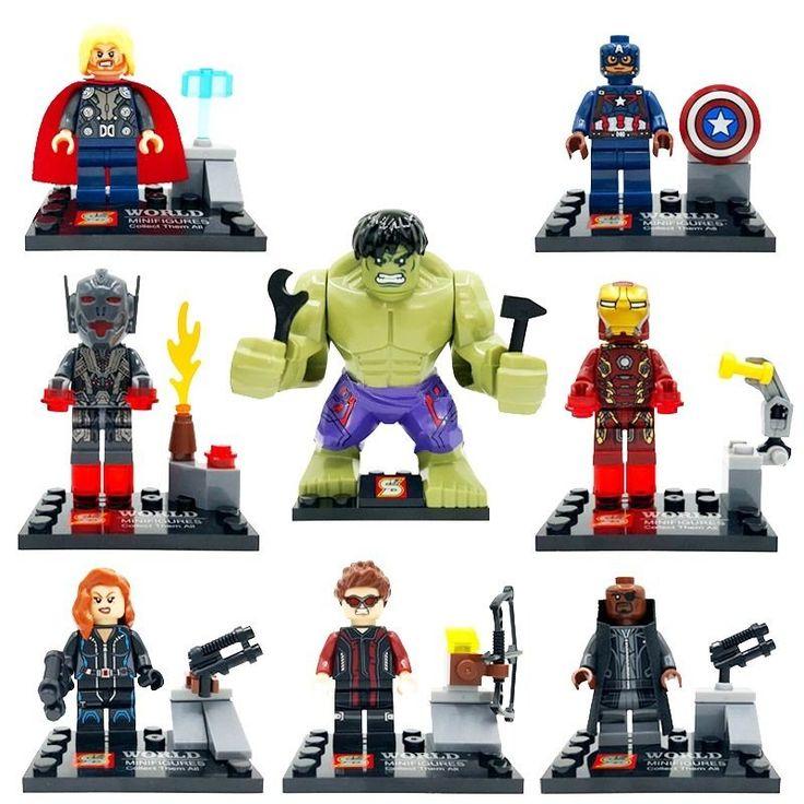 Gli Avengers 2 Era of Ultron Gioco Componibile - Set di 8 Supereroi