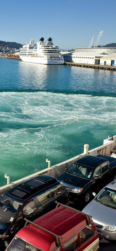 Inter-Islander Ferry - linking the North and South Islands of NZ,for vehicles and passengers. . and enjoy some beautiful scenery enroute.