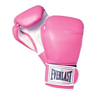 my left hook is just as strong as my right hook ;) cute pink boxing gloves <3