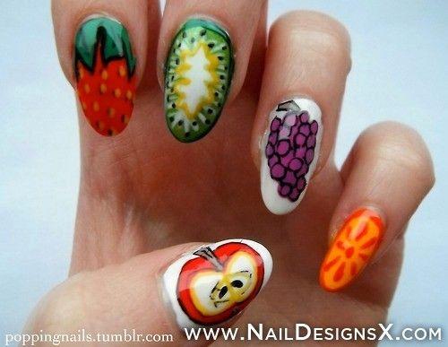 25 Best Fruit Nail Designs Nail Art Images By Monique