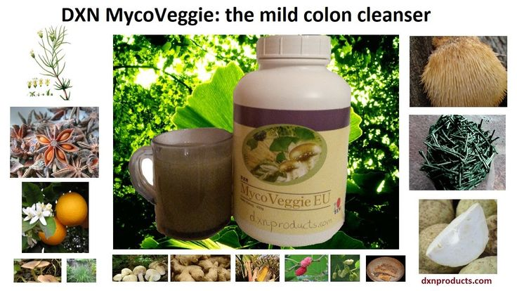 Gentle colon cleansing with high-fiber DXN MycoVeggie