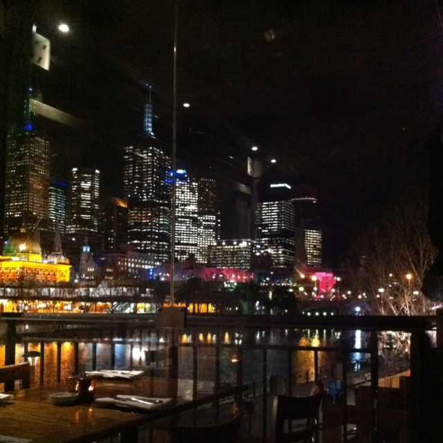 The view from tutto bene restaurant Southgate Melbourne