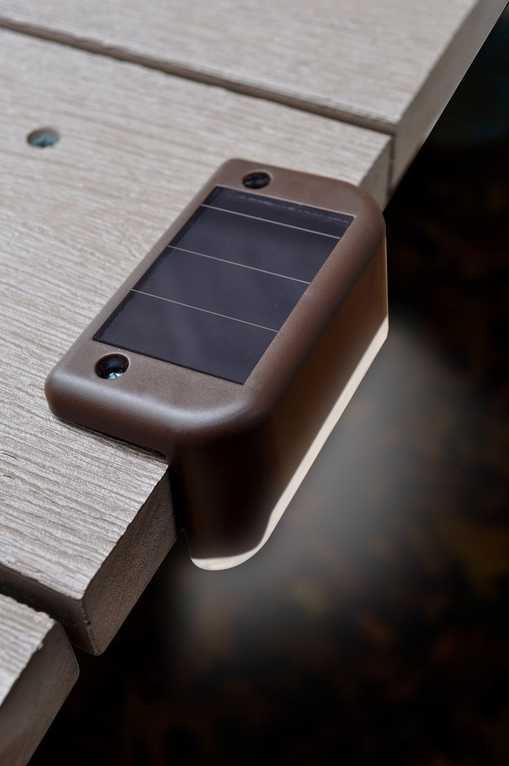 Prevent accidents and make it easy to navigate! These nifty little solar deck lights, light up your steps, railing or deck edges. They add beauty and even more importantly prevent you from falling or tripping. Easy installation and the sun does the rest during the day and the rechargeable battery lets the lights shine at night. Each box contains 4 deck lights.