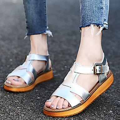 damesschoenen - casual  formeel - zwart  wit  zilver - platte hak - comfort  slingback  open neus - sandalen - leer  04769710 - jmoikqlt_10