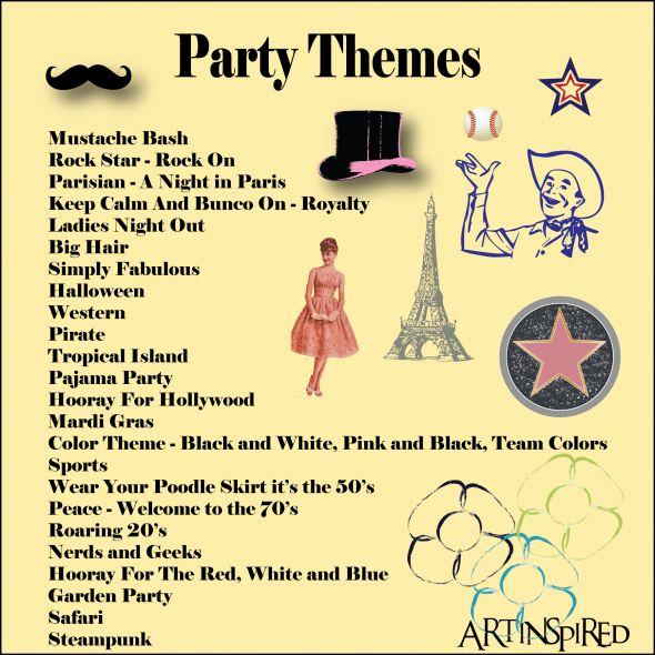 bunco theme party ideas | Bunco Themes