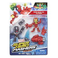 Marvel Super Hero Mashers Micro 2 Pack Action Figure - Iron Man and Ultron