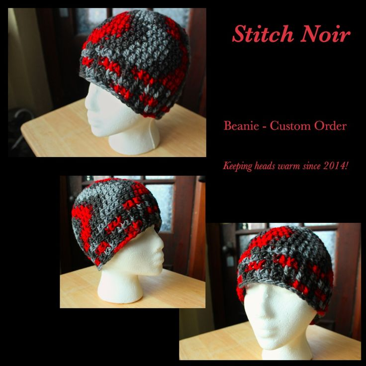 Custom wool beanie hat made for my friend Kate :) We went yarn shopping and she chose the colours. Love them! #crochet #stitchnoir #fibrearts #wool #beanie