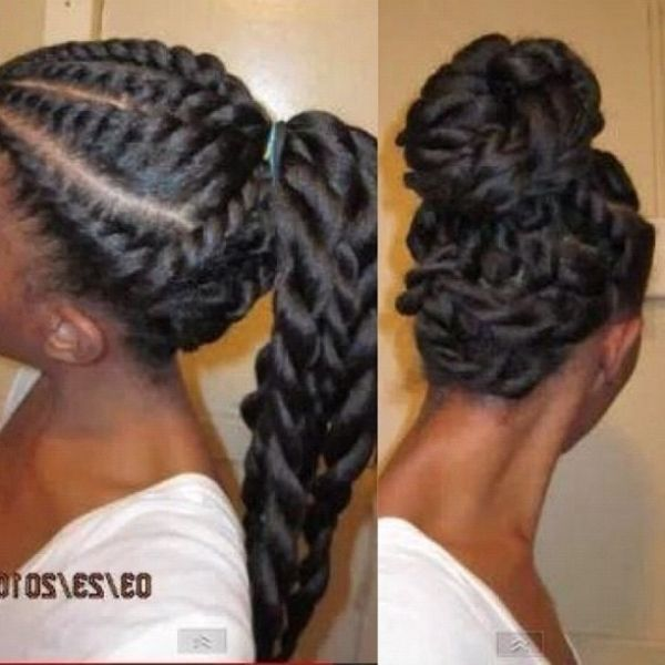so nice!!! #natural #hair #bun #bang #updo #marley hair