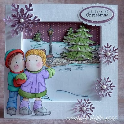 How to make a framed card.  Thanks to Debby.