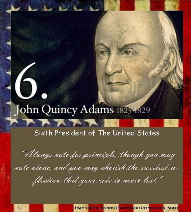 A biography of john adams the 6th president of the united states
