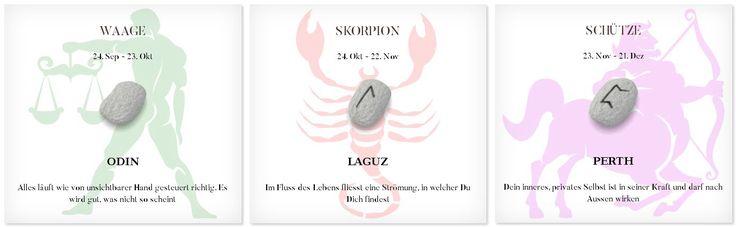 Runen Tageshoroskop 19.4.2017 #Sternzeichen #Runen #Horoskope #waage #skorpion #schütze