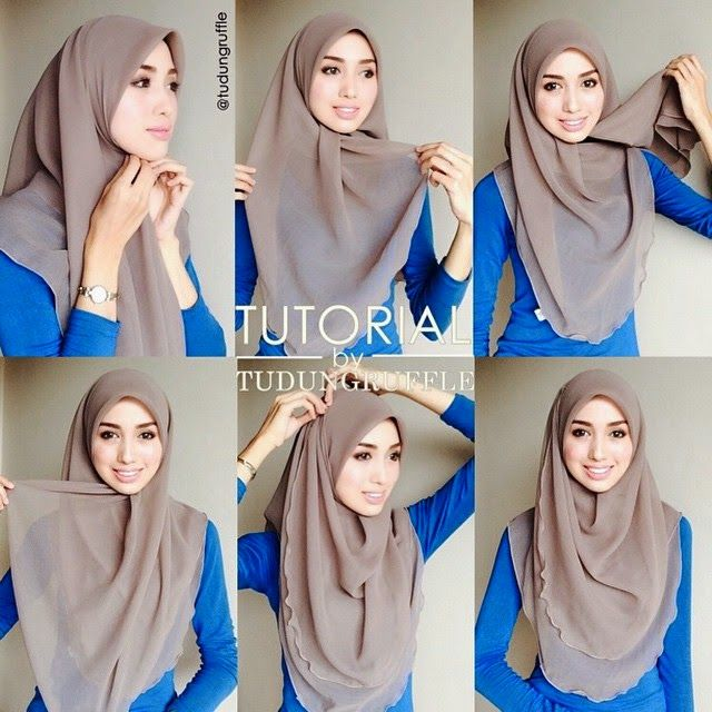 HIJAB FASHION INSPIRATION : Beautiful Chest Covering Hijab Tutorial