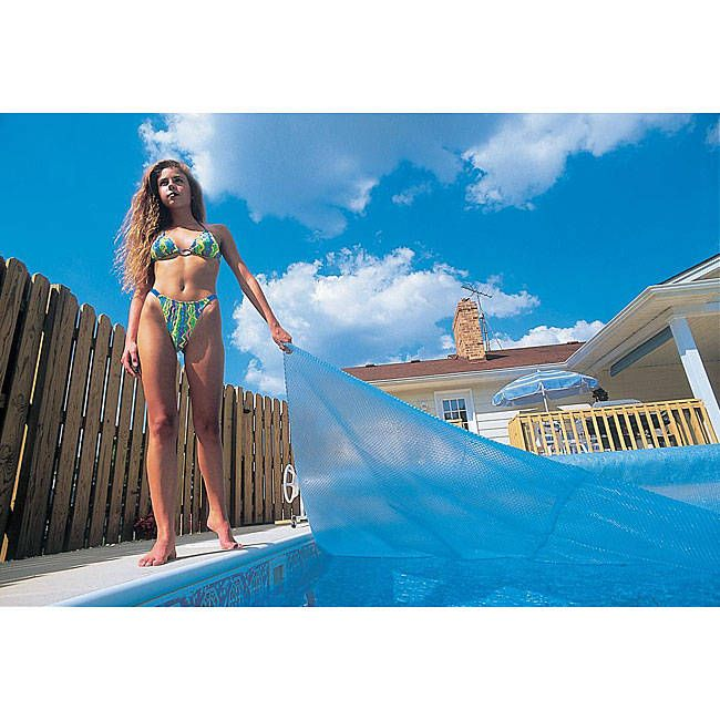 Wave 14 ft. x 28 ft. Rectangular 12-mil Solar Blanket for In Ground Pools -