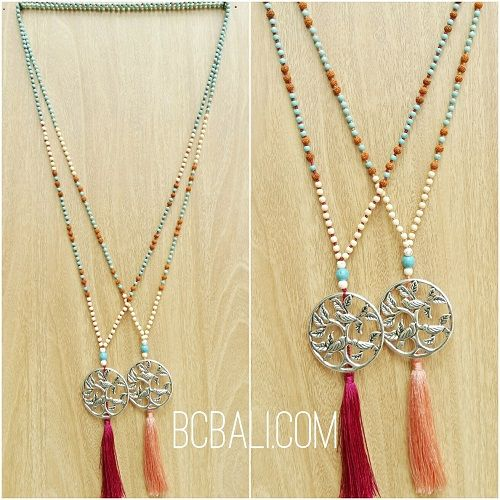 2color necklaces bronze silver beads rudraksha bead - 2color necklaces bronze silver beads rudraksha bead