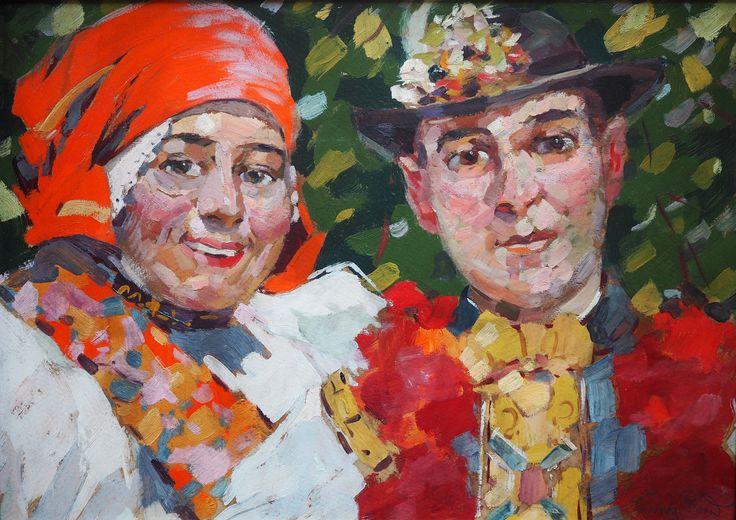 Rudolf Černý: Pár ze Slovácka(Couple from Slovácko), 1918