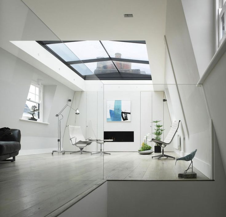 London flat with retractable roof (1)