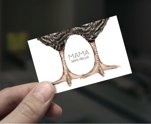 business card, chicken, egg, negative space, hotel