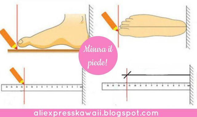 Aliexpress Kawaii Shopping: Guida: come trovare il giusto numero di scarpe
