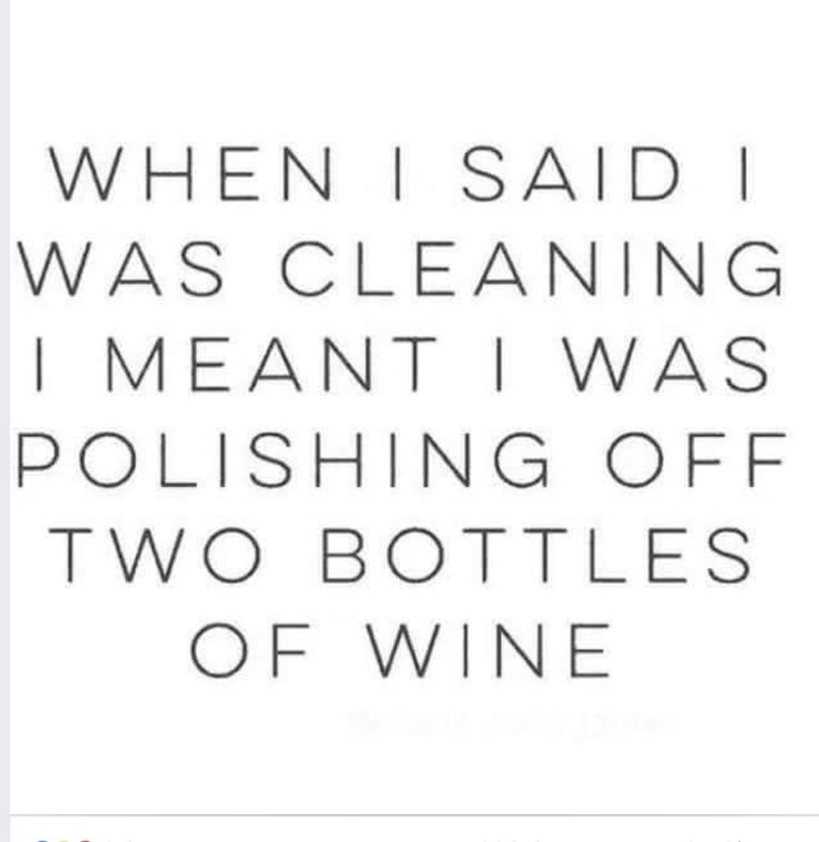 *cough* I meant, cleaning (out) the liquor cabinet ;-)