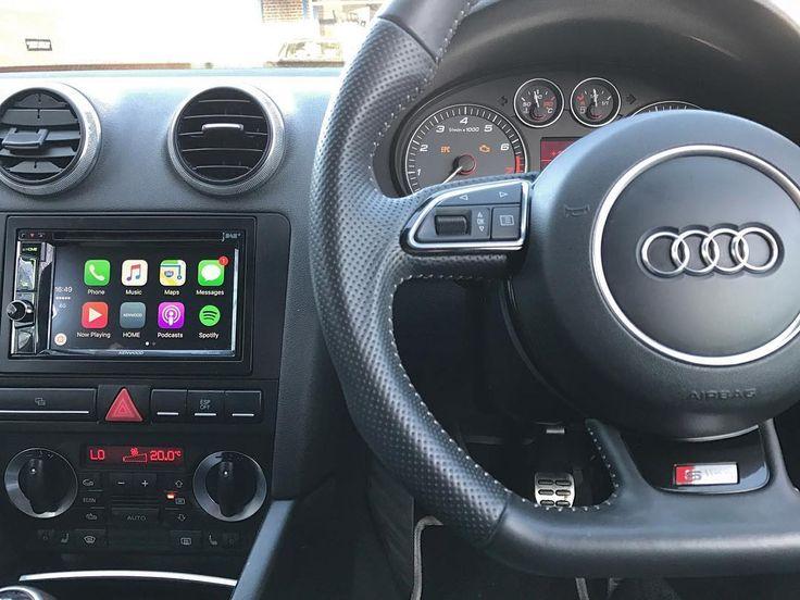 Audi S3 2008 installed with Apple CarPlay unit - Kenwood DDX 8016DAB.  #CEN #audi #audis3 #audia3 #auditt #audilover #audilife #audilifestyle #applecarplay #apple #iphone #carplay #applemaps #applemusic #spotify #kenwood #carsofinstagram #carstagram #caraudio