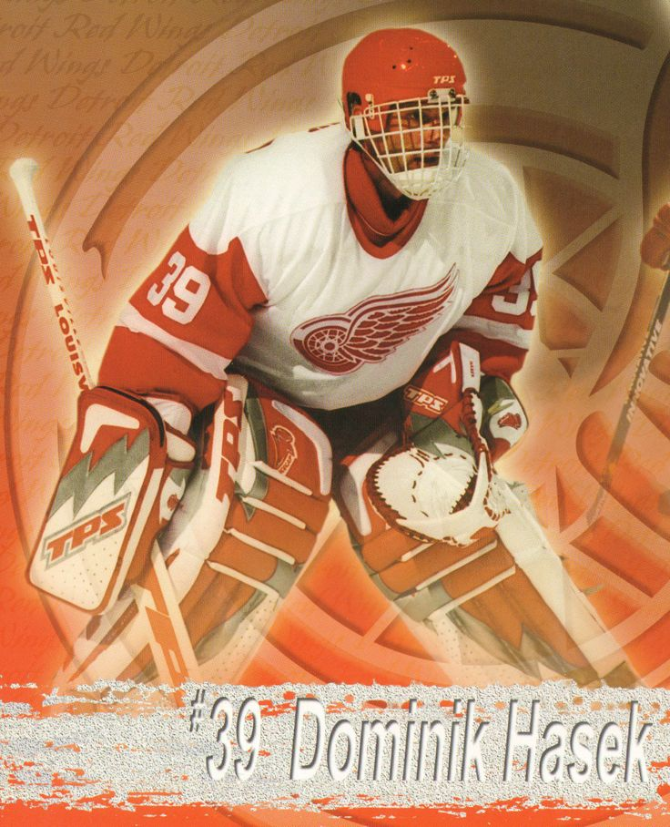 Dominik Hašek (born January 29, 1965, Pardubice, Czechoslovakia) is a retired Czech ice hockey goaltender. In his 16-season National Hockey League (NHL) career, he played for the Chicago Blackhawks, Buffalo Sabres, Detroit Red Wings and the Ottawa Senators. Hašek was one of the league's most successful goaltenders of the 1990s and early 2000s. While with the Red Wings in 2002, Hašek became the first European starting goaltender to win the Stanley Cup.