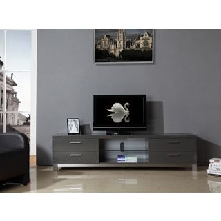 natasha highgloss grey stainless steel modern tv stand shopping