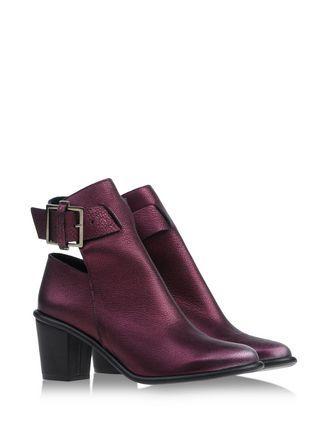 Miista reddish purple ankle boots