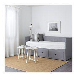 IKEA - HEMNES, Sovesofa 3 skuffer/2 madrasser, grå/Moshult fast, , 4 funktioner: Sofa, enkeltseng, dobbeltseng og opbevaring.