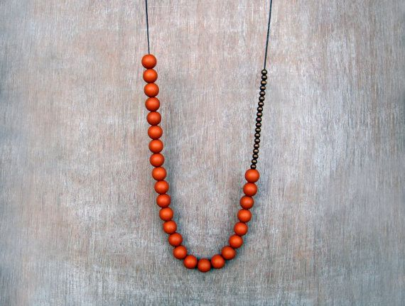Hey, I found this really awesome Etsy listing at https://www.etsy.com/listing/114395041/rusted-orange-necklace