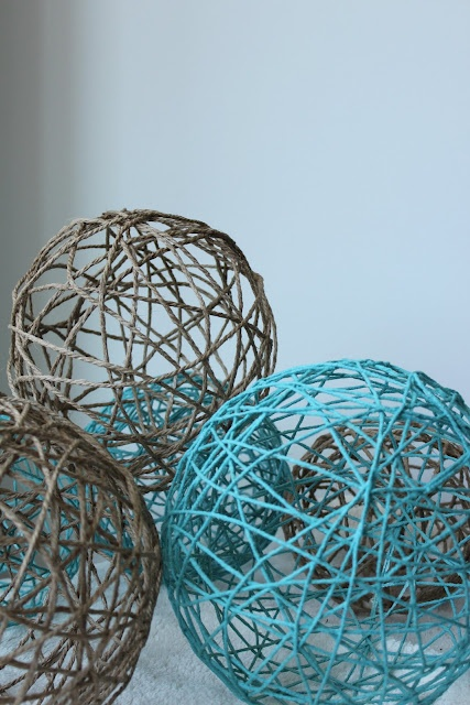 Yarn Balls - I could make those instead of the paper lanterns.