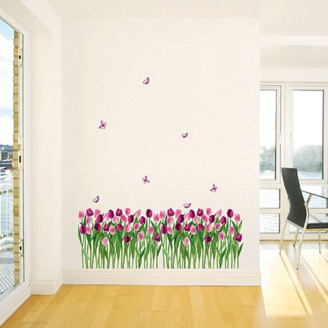 Tulips wall stickers - perfect for a little girls room
